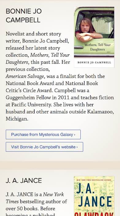Literary Women mobile website